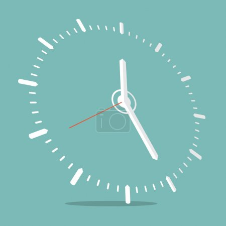 Illustration for Clock Vector Illustration - Royalty Free Image
