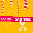 Retro Grand Opening Vector Illustration with Confe...