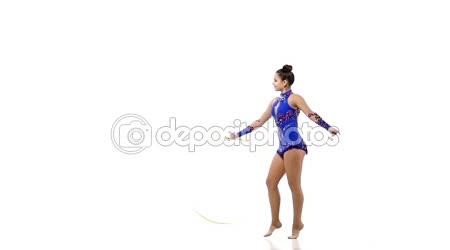 Siluety s různými předměty sportovní gymnastka
