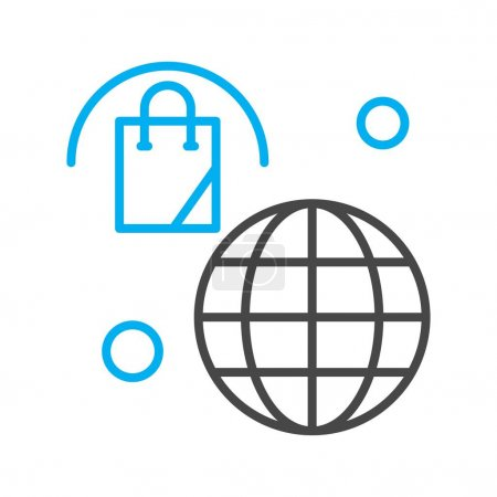 Illustration for Vector Bag Icon , simple web illustration - Royalty Free Image