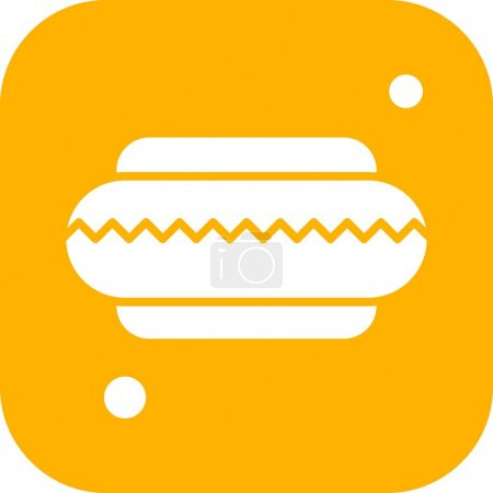 Illustration for Vector hotdog Icon , simple web illustration - Royalty Free Image