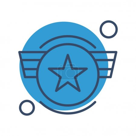 Illustration for Vector army Icon, vector illustration - Royalty Free Image