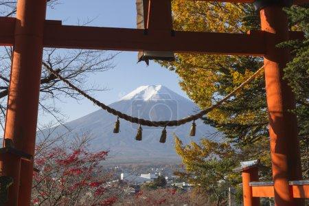 Chureito Pagoda in Fujiyoshida, Japan