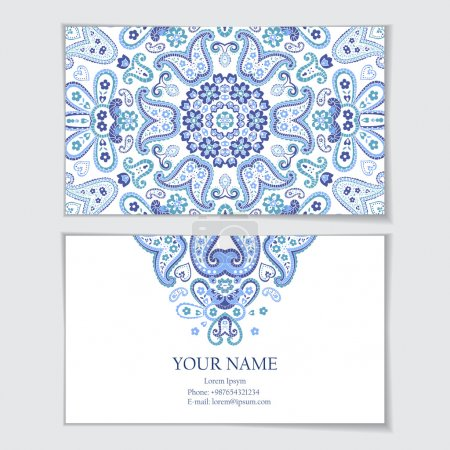 Illustration for Business card template. Visit card, invitation, greeting card. - Royalty Free Image