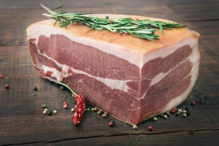 Photo for Smoked italian ham closeup - Royalty Free Image