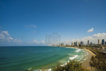 Coastline view of Tel-Aviv