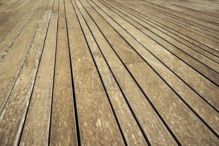 Photo pour Ancien plancher en bois comme texture vintage - image libre de droit