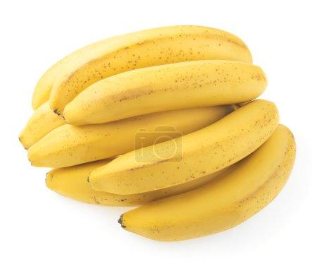 Foto de Primer plano de plátanos maduros aislados sobre fondo blanco - Imagen libre de derechos
