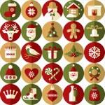 Christmas design icons set. Vector background.Seamless pattern og christmas decoration.