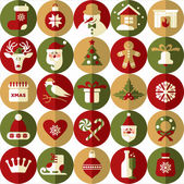 Christmas design icons set.