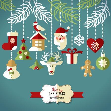 Christmas design icons set.