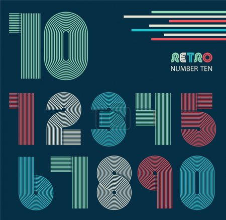 retro numbers set