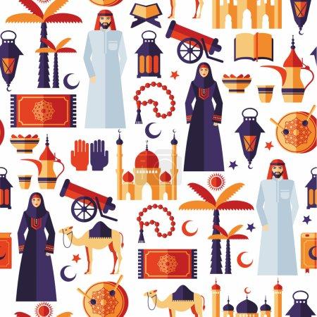 Ramadan Kareem icons  of Arabian