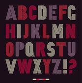 Retro stripes funky fonts set trendy elegant retro style design