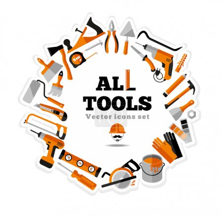 Building tools icons set