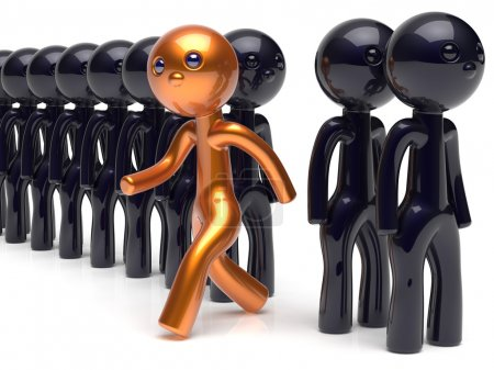 Stand out from the crowd character different individuality icon