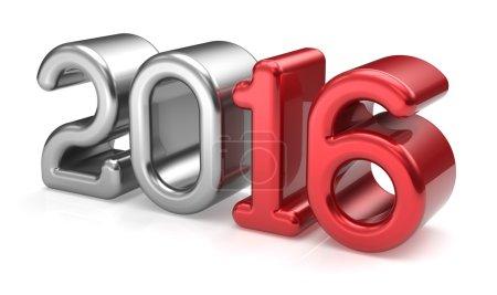 New Years Eve 2016 wintertime calendar date decoration