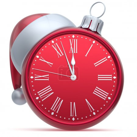 New Year's Eve alarm clock Christmas ball decoration red white