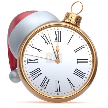 New Year's Eve time midnight hour Christmas ball alarm clock