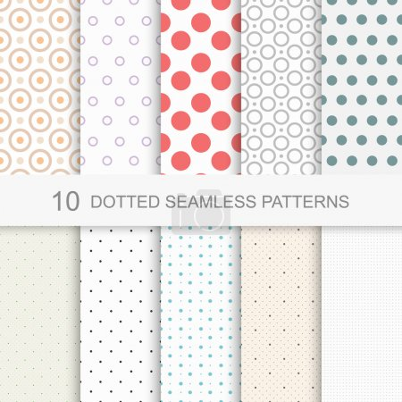10 Dotted seamless vector patterns