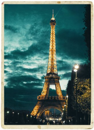 Eiffel Tower at evening