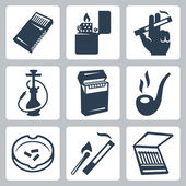 Smoking related icons set