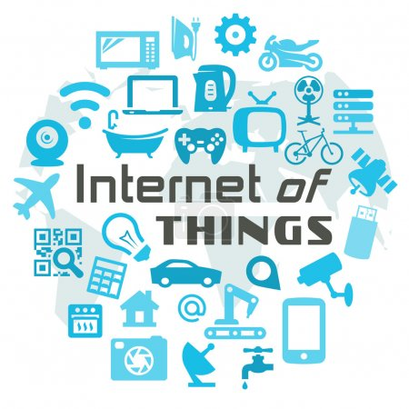 Illustration for Internet of Things vector concept illustration - Royalty Free Image
