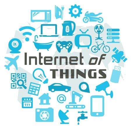 Illustration pour Illustration de concept pour le vecteur Internet of Things - image libre de droit