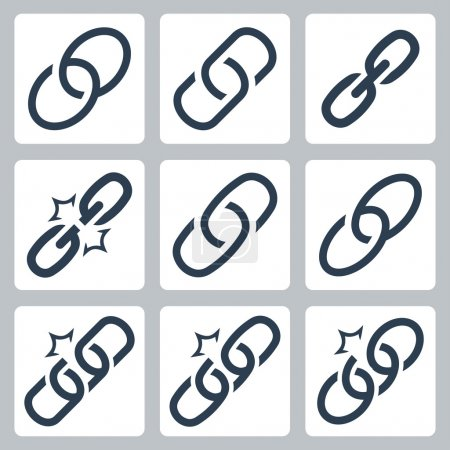 Chain links icons
