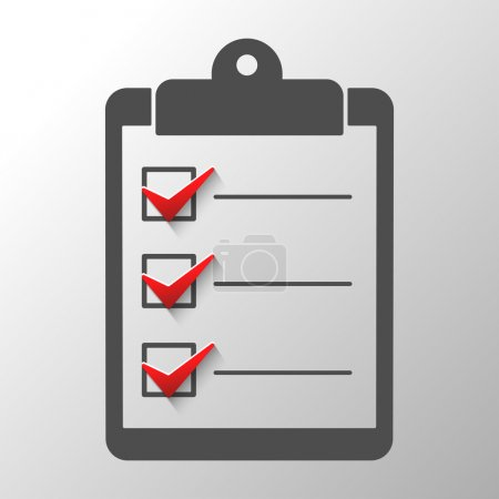 Illustration for Check list  conceptual of a survey quality control questionnaire tasks.Abstract illustration - Royalty Free Image