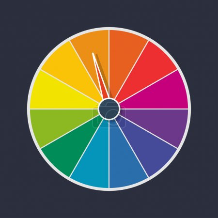 Illustration for Wheel of fortune vector illustration - Royalty Free Image