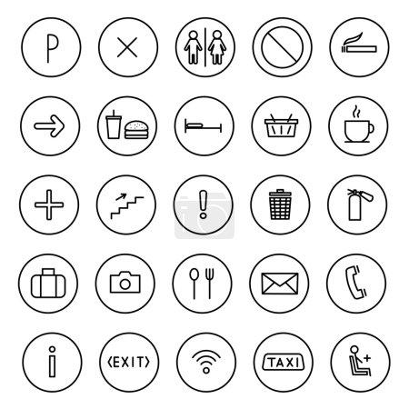 Un ensemble de ligne plate d'icônes vectorielles. public chanter