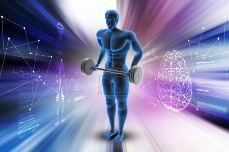 Human body medical concept