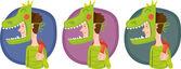 Dítě v sadě maska dinosaurus