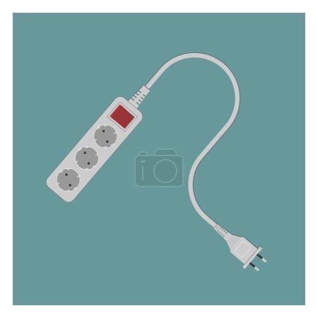 Illustration for Electrical socket outlet. Vector illustration. EPS 10, opacity - Royalty Free Image