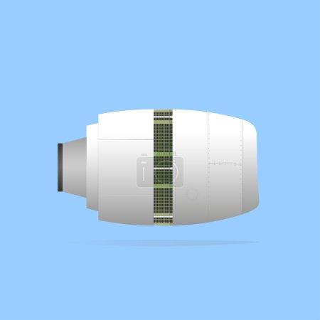 Illustration pour Inverseurs de poussée déployés sur le moteur. SPE 10, opacité - image libre de droit