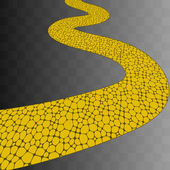 Path paved paving slabs Vector background eps 8