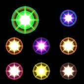 vector glowing lights stars and sparkles 2