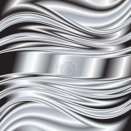 Metal texture background. Vector image silver 5