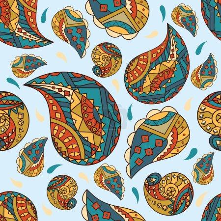 Illustration pour Modèle floral abstrait sans couture vectoriel. Modèle sans couture peut être utilisé pour les fonds d'écran, remplissage de modèle, arrière-plans de page Web, textures de surface . - image libre de droit