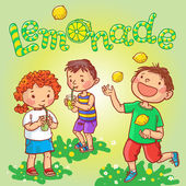 Children having Lemonade party