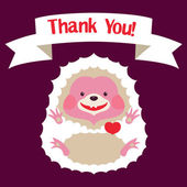 White Hedgehog celebrating Birthday Greeting card Baby Shower Template design can be used for packaging invitationsBirthday decoration bag template print for mag cup and etc