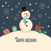 Vánoční přání s sněhulák