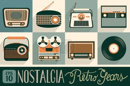 Retro gears poster