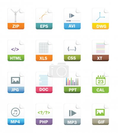 File Icon Set  isolated in white background.vector...