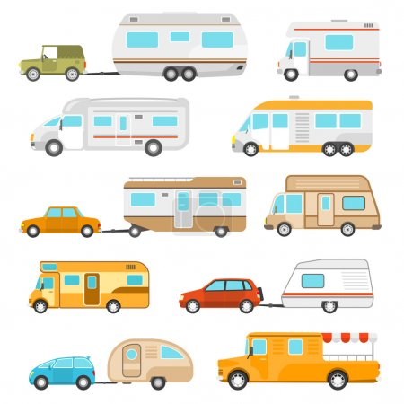 Recreational Vehicle Icons Set