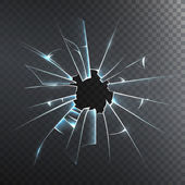 Broken Frosted Glass Realistic Icon