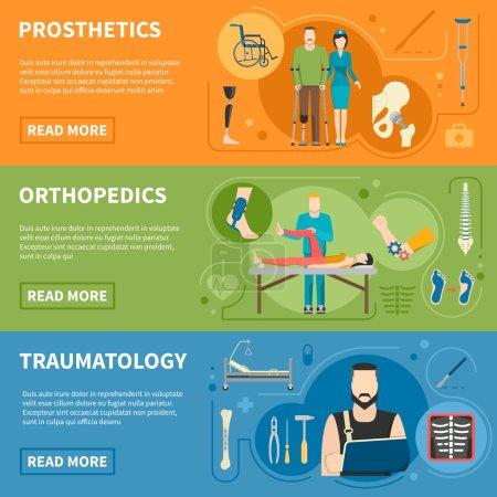Horizontal Banners Of Traumatology Orthopedics