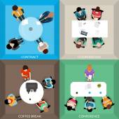 Business Communications Top View Set