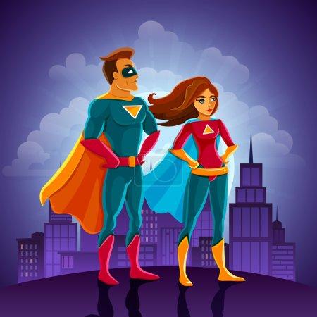 Super Heroes Couple